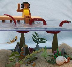 Below the Docks (Razzle Jazzle) Tags: lego rebrick figure creature ocean sea docks water contest