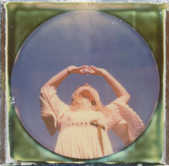 crystal conscience (Britt Grimm) Tags: instantphotography instant impossibleproject instantgratification roundframe expiredfilm expired polaroid polavoid polaroidsx70 snapitseeit sx70 crystalball crystal