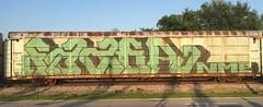 Fazer (MC. Squared) Tags: graffiti freight autorack wholecar nme fazer