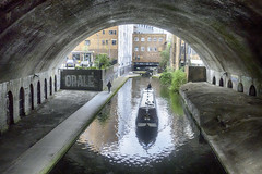20170420_Canal and arch (Damien Walmsley) Tags: camera longboat arch birmingham reflection hdr figures