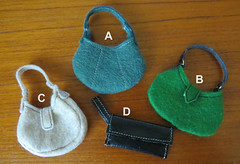 6. Handmade Barbie Hand bags (Foxy Belle) Tags: barbie handmade sew bag hand handbag purse pocketbook how tutorial make handamde ooak doll 16 scale modern clutch hobo
