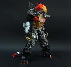 Jinroh : Mech Form (chubbybots) Tags: lego bionicle wolf mecha