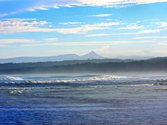 Pigeon House mountain across waves I (elphweb) Tags: ocean sea seaside nsw australia falsehdr fhdr coastal