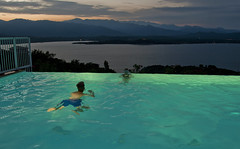 A swim with a view (Anders_3) Tags: corsica portovecchio corse france island pool swimming view nikond700 night bay mediterraneansea corsedusud 7s43957v2 apartment apartmentwithpool vacation holiday tourism
