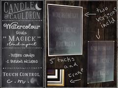 C&C Watercolour Goals - Magick (November Nighthearth) Tags: secondlife occult positivity goals art candleandcauldron