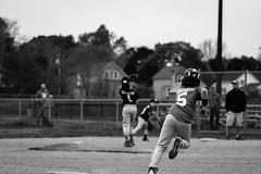 Heading Home (SopheNic (DavidSenaPhoto)) Tags: xe1 baseball 55mmf17 sports baseballfield rokkorlens fuji monochrome blackandwhite fujifilm legacyglass