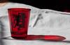 Requirement One: Caustics (Killion94) Tags: fireball whiskey shotglass caustic