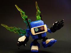 Short Circuit (Djokson) Tags: robot toy lego model moc djokson malfunction short circuit busted visor tiny helmet