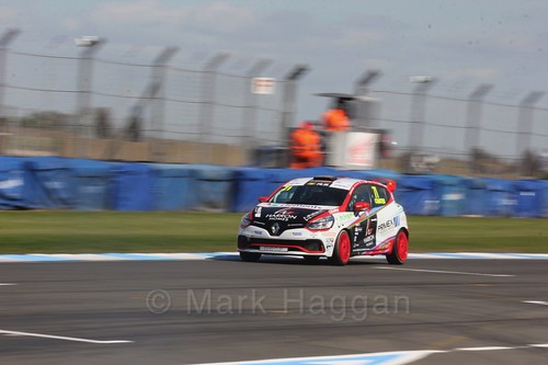Max Coates in Clio Cup qualifying during the BTCC Weekend at Donington Park 2017: Saturday, 15th April