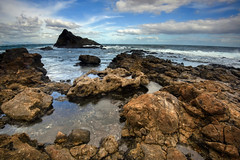 Isla de Lobos, Fuerteventura, Spain (Marc Arnoud Rogier van der Wiel) Tags: beach ocean atlantic spain españa fuerteventura rock rocks stone vulcanic island nature sea seaside water waterfront outdoor shore coast coastline landscape seascape clouds lanzarote waves