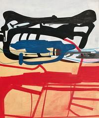 Jim Harris: Untitled. (Jim Harris: Artist.) Tags: art kunst konst künstler abstract arte maalaus malerei málverk jimharris jim harris red geometric geometrický technology technik
