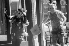 Clowns 2 (markhedborn) Tags: geneva st charles illinois il outside starbucks kids teens young youth punk hippies crazy girls women