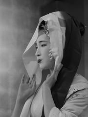 The Maiko Tatsuha of Gion (Rekishi no Tabi) Tags: maiko apprenticegeiko apprenticegeisha geiko geisha gion gionkobu leica monochrome portrait kyoto japan