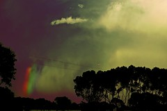 Storm Brewing!! (maginoz1) Tags: abstract art playingwithcurves colour manipulate sky landscape rainbow storm bulla melbourne victoria australia autumn april 2017 canon g3x