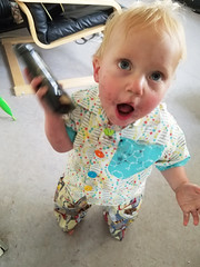 Who's calling? (quinn.anya) Tags: paul toddler phone imagination deodorant