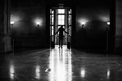 Vlad (ewitsoe) Tags: doors drama dramatic ewitsoe erikwitsoe canoneos5ds 50mm 14 zamek castle hall enter king mono blackandwhite backlight windows old man silhouette