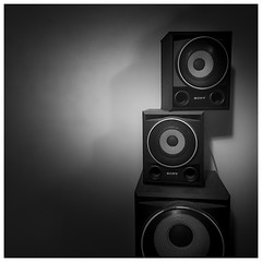 Phone photography - Sound (Jaka Pirš Hanžič) Tags: phone iphone mobile speakers square dark low key stacked abstract