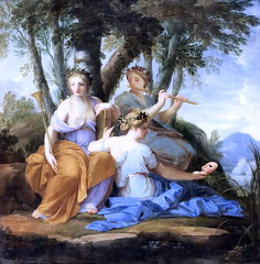 IMG_6467DB Eustache Lesueur 1626-1656 Paris Clio, Euterpe et Thalie 1655 Louvre. (jean louis mazieres) Tags: peintres peintures painting musée museum museo france paris louvre eustachelesueur