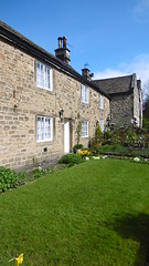Rose Cottage, Eyam   -   April 2017 (dave_attrill) Tags: rose cottage thorpe family 9 members dead eyam derbyshire peak district hope valley 11th century village bubonic plague breakout 1665 rev william mompessom anglo saxon roman lead mining 260 deaths main road rd architecture outdoor stonework historic mid 17th cottages april 2017 national park white mines domesday book stoney middleton