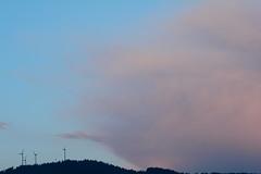 Fluff (oliko2) Tags: rosskopf windturbines mountain clouds pink fluffy sky landscape nikond7100 sigma1750 f28 freiburg