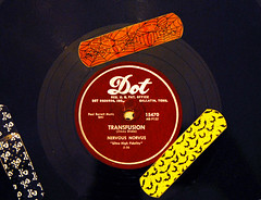 TRANSFUSION (Grudnick) Tags: nervousnorvus jimmydrake noveltysong transfusion dot 78 78rpm hit 1956 13onbillboardshot100chart song doctordemento drdemento rockroll rockabilly iv brokenrecord record single rock accident shithappens withabullet