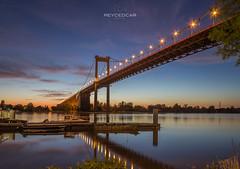 Pont d'Aquitaine (reycedcar) Tags: france architecture bordeaux pont paysage nuit garonne quais aquitaine gironde pontdaquitaine couchdesoleil
