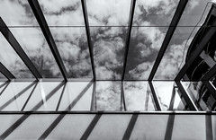 outside, the sky (Michael Moeller) Tags: oldenburg shadows architecture monochrom photographersontumblr