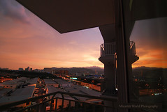 Sunset view from my balcony (Micartttt) Tags: world sunset silhouette photography georgetown malaysia penang awards micarttttworldphotographyawards micartttt