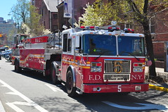 FDNY Ladder 5 (Triborough) Tags: nyc newyorkcity ny newyork manhattan firetruck fireengine ladder fdny tiller greenwichvillage seagrave tda newyorkcounty ladder5 newyorkcityfiredepartment