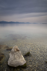 The Tooth (Philippe Saire || Photography) Tags: sky mountain lake alps beach nature water rock clouds montagne alpes canon landscape eos switzerland eau long exposure suisse mark pierre swiss iii horizon lac wideangle playa