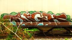 SIGH (BLACK VOMIT) Tags: car train graffiti ol south grain dirty dos sigh hopper freight grainer