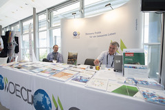 Exhibitors at the OECD stand