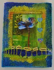 Needlecase (lindavin58) Tags: blue felted mixedmedia anemone lime paperandfabric