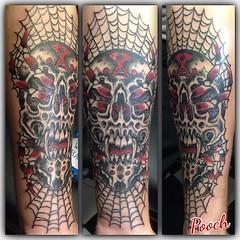 Spider Skull #sobamachines #skull #spider #skullspider @neotatmachines @fusionink_ca #pooch_art