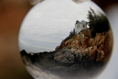 Bass Harbor Lighthouse (Back Road Images/Respah Mitchell) Tags: lighthouse maine barharbor crystalball