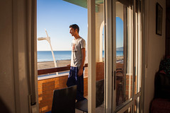 (anass bachar) Tags: morning sea summer holiday beach early colorful view morocco plage