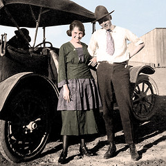 We've Got Tomorrow (Never, EVER buy ivory) Tags: auto woman man car vintage couple antique