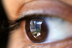 Beauty in the eye (Raam Chamala) Tags: macro eye up closeup close eyelid lid retina