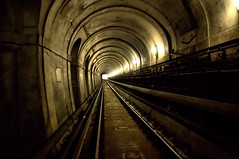 There Is A Light... (Nick.Richards) Tags: london thames underground nikon track arch tube engineering tunnel rails lamps brunel tfl lul visitlondon thamestunnel