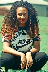 Mariah | 2 (FotosByDM) Tags: pink black cute green beautiful canon hair fun photography women tripod 100mm nike curly vans f2 mariah justdoit freelance clientwork justgoshoot
