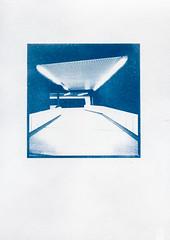 ({jbremer}) Tags: vienna wien underground subway square metro empty cyan ubahn lonely cyanotype sunprint cyano sunprinting cyanografie