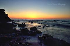 After sunset (yoko.wannwannmaru) Tags: blue sea nature japan twilight shore shimane      fineweather    eveninglandscape 201405031859dsc4070ns