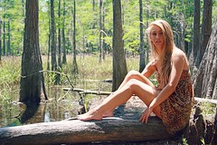 Model Brit Wall (PriscillaDPhoto) Tags: park trees sunlight nature girl outdoors photography model woods florida logs jungle swamp