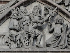 ca. 1355-1360 - 'Massacre of the Innocents', west portal, Lorenzkirche, Nürnberg, Bayern, Germany (roelipilami (Roel Renmans)) Tags: life church saint century germany bayern san christ mail massacre graf jesus tomb nuremberg kinderen kirche holy pilatus lorenzo shield dagger 14th grab armour scenes lorenz leben vie nürnberg christus leven hourglass heilig innocents nurenberg jezus sepulchre gauntlets lorenzkirche bascinet 1360 1355 laurentius kettenhemd surcoat cuisses aventail coatofplates basnet camail maliënkolder beckenhaube surcotte chapeldefer wapenrok wappenrock poleyns onschuldige basilard kniestuk genouilleres plattenrock nurimbergo