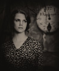 // You can't choose the time and... photographer (neverbe) Tags: portrait blackandwhite bw film girl 4x5 largeformat 210mm fujinonw21056 shenhaotziib ilfordhp5incrawleyfx10rayco94for640at25