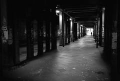 Lessing-Tunnel, Altona (difridi) Tags: street light urban blackandwhite silhouette dark licht hamburg streetphotography tunnel schwarzweiss altona dunkel lessingtunnel juliusleberstrase difridi