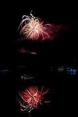 Fireworks over the Neponset River (dwoodman86) Tags: river ma fireworks milton neponset