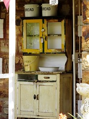 Old Fashioned House (Cathlon) Tags: old kitchen bread bucket antique cupboard shelved scavenger7 ansh53