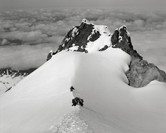 Accident on Mount Hood (1) (austin granger) Tags: rescue snow fall film oregon climb accident mountainclimbing ridge mthood mounthood hogsback fumarole craterrock gf670 austingranger