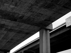 Freeway Underpass (Bart D. Frescura) Tags: blackandwhite northerncalifornia oakland freeway bayarea eastbay westcoast bdf califorina westoakland oaklandcalifornia offthefreeway